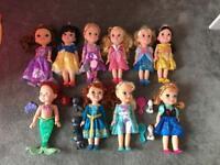Disney princess toddler dolls x 10