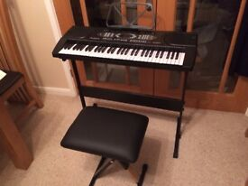 Alesis Melody 61 Key Keyboard w/ Beginners Piano Book, Microphone, Headphones and Stool - Once used