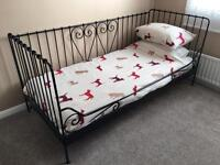 Black Ikea Day Bed with mattress (if wanted)