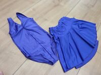 Girl's ballet outfit, purple, Adagio by Tunics, leotard and skirt