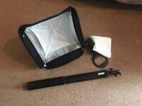 "Lastolite Ezybox Hotshoe Kit Softbox (17"") - Box/Tilted bracket /stand/cases"
