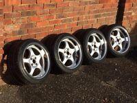 Borbet deep dish alloy wheels, 4x100 Vw Golf Bmw e30