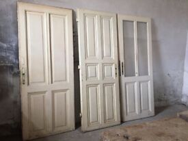 3x Antique Vintage Wooden Doors, Bed Board, Wall decor re-purpose