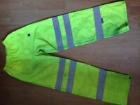 Water resistant safety trousers
