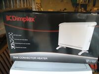 Dimplex convector heater 2kw freestanding or wall mounted vgc gwo