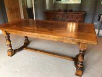 Tudor Oak Dining table 200 x 100