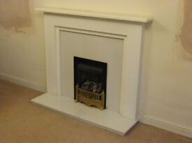 Gas Fire, Hearth & Mantelpiece