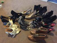 10 pairs heels size 5