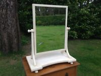 Handpainted Antique Victorian Dressing Table Mirror in Annie Sloan Original