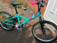 "B-TWIN misti Girl 320 20"" wheel bike 5 speed in Excellent condition"