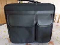 NEW DELL BLACK COMPUTER LAPTOP BRIEFCASE CARRY ON TRAVEL STURDY CANVAS/LEATHER