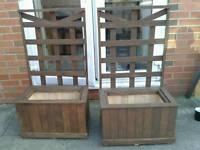 2 x quality new garden planters