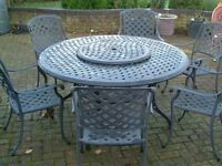 BRAMBLECREST PATIO TABLE, CHAIRS AND CUSHIONS