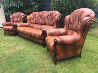 Italian leather Rossini vintage chesterfield style sofa suite can deliver