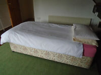 Single bed and bedding