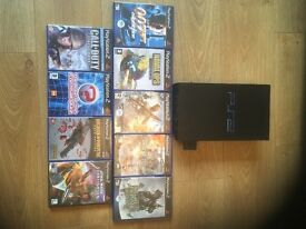 PlayStation 2 with 9 games.