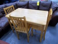 Pinewood Table and 3 Chairs…32097B
