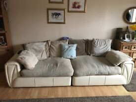 Well loved large sofa, needs new home ASAP used