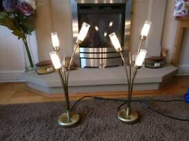 Brass Table Lamps (Bamboo)