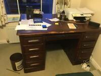 Solid vintage desk