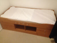 Bed with Drawers and Storage