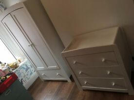 Mamas & Papas Mia Wardrobe and Chest of Drawers