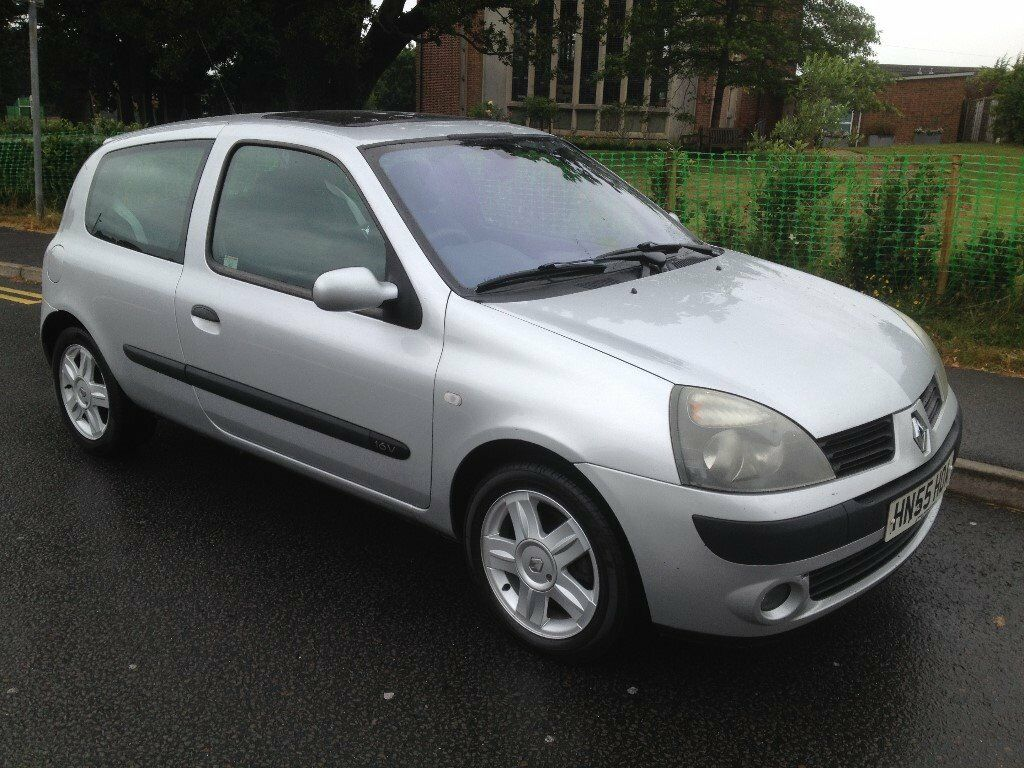 2005 55 renault clio 1 2 dynamique 16v 3 door manual silver 90k aircon alloys mot until 26 07. Black Bedroom Furniture Sets. Home Design Ideas