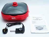 New JDW Ceramic 5 in 1 Red Electric Grill KR434