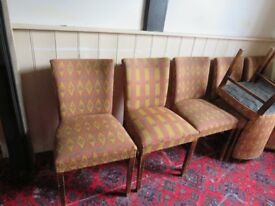 Upholstered dining chairs - renovation project