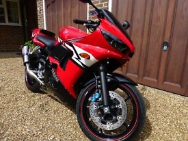 Yamaha r6 full years mot new tyres front and rear