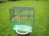 Roomy gerbil/hamster cage.