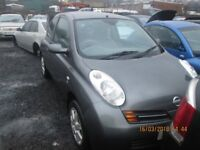 Nissan Mikcra SE DCI 65 PS 1.5 2003 breaking for spares Wheel Nut.
