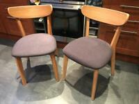 Two New John Lewis Clio Dining Chairs