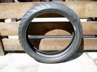 Part Used - Metzeler Sportec M7 - RR 120/70 ZR17 (58W) Front Motorcycle tyre.