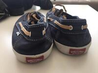 vans boat shoes in size 9