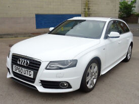 AUDI A4 2.0 AVANT TDI S LINE DPF 5d 168 BHP HALF LEATHER + PARKING SENSORS + MOT JULY 2019 +