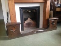 Solid Oak antique fire place surround