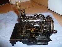 """Antique 1870s James G Weir """"Globe"""" Sewing Machine."""