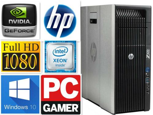 Fast Gaming Pc Desktop Hp Z620 8cores E5-2690 32gb 1tb+ 240gb Ssd Gtx780  Wifi