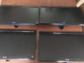 LG LED Monitors x 4