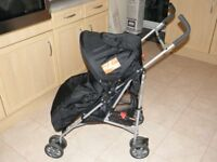 Koochiku Actai S Pushchair with Foot Muff and Rain Cover.