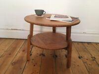 Vintage Mid Century Art Deco Oak Coffee Table Side Table
