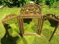 Dressing table tripple vintage mirror