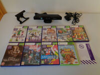 Xbox 360 Kinect Bundle including TV Bracket and 9 Games