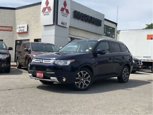 2015 Mitsubishi Outlander GT, 4WD, SUNROOF, 7SEAT, LEATHER, ROCK