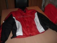 Motorcycle jacket, size XL, never worn