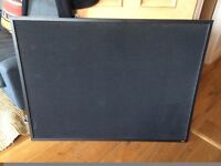Large Black Felt Cork Board / Notice Board - Good Condition £22 (RP £33)