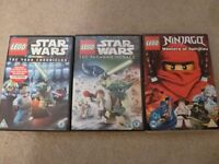 Lego DVDs Star wars and Ninjago