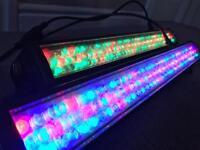 2x American DJ MegaBar 50 LED (RGB Wash Batten, LED Par Bar, Disco Band DJ Lighting)
