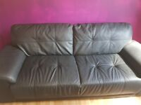 3 and 2 seater black leather sofa NEED GONE
